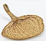 "Darice Set of Natural Woven Buri Palm Fans 7"" - 18 Pack"