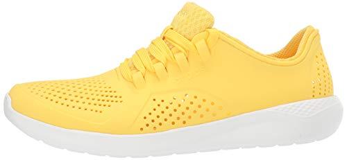 Crocs womens Literide Pacer Sneaker, Sunshine/White, 4 US