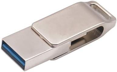 MADELEINE PRESTON 64GB USB 3.0+USB C Memory Stick 2 in 1 Waterproof Aluminum Flash Drive Thumb Drive with Keychain