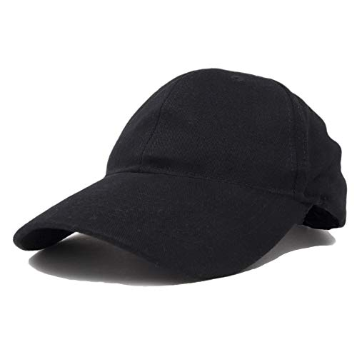 (Unisex Hat Hat Fine Brushed Cotton Ball Cap in Black)