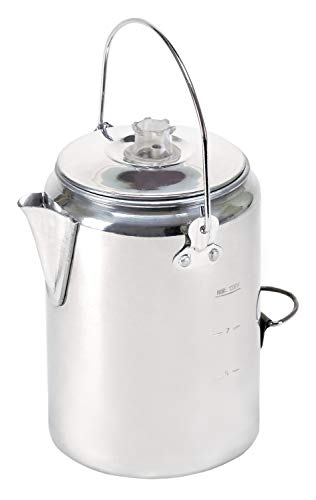- Stansport Aluminum Percolator Coffee Pot, 9 Cups