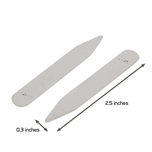 MODERN GOODS SHOP Stainless Steel Collar Stays With Laser Engraved Vanuatu Design - 2.5 Inch Metal Collar Stiffeners - Made In USA by Modern Accessories Co (Image #2)