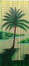 Palm Tree Bamboo Door Curtain (Bamboo 62 5290 Halcyon Palm Tree Curtain)