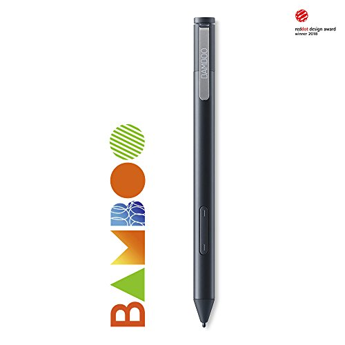 Wacom Bamboo Ink Smart Stylus in Black, Optimised for Windows Ink –...