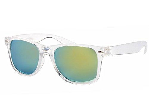 Carré Femme soleil Lunettes Rétro Unisexe de Vert Miroir Polarisé Homme w8aqt1Pnfq
