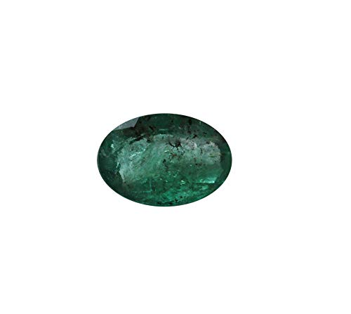 (Jaipur Gems Mart GTL Certified 2.85 Cts Faceted Oval Shape Cut Rich Green Good Luster Zambian Natural Emerald Panna Loose Gemstone Piece for Jewelry Making Ring Size 10.50 x 9 x 7.50 mm Clear Emerald)
