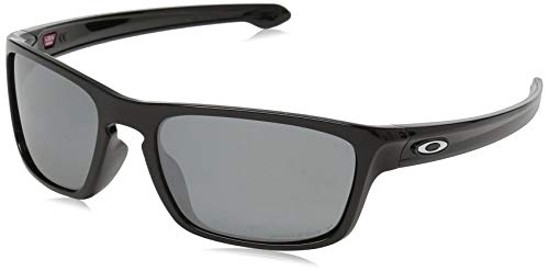 Oakley Men's OO9408 Sliver Stealth Square Sunglasses, Polished Black/Prizm Black Polarized, 56 ()