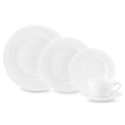 Bernardaud Louvre White Five Piece Place Setting