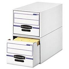 - Stor/Drawer File Drawer Storage Box, Legal, White/Blue, 6/Carton