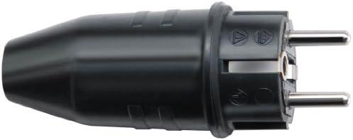 Negro 230 V Brennenstuhl 1082040 Enchufe de Caucho
