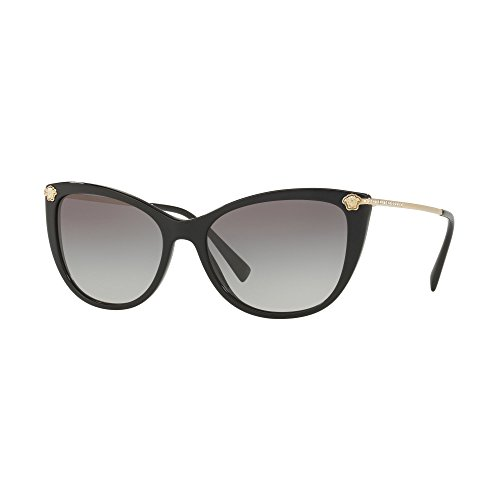 Versace Women's VE4345B Black/Grey Gradient One - Cat Eye Versace Sunglasses