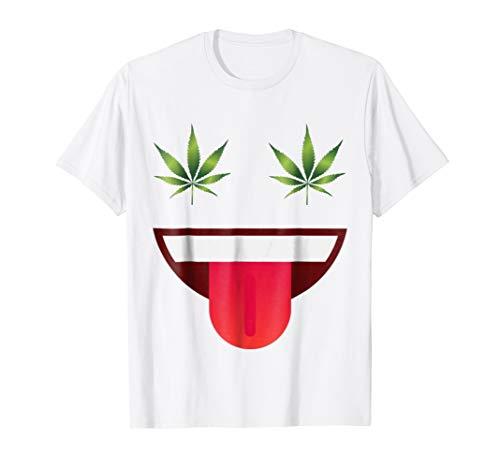 Halloween Emojis Stoner Costume Shirt Smile Face Weed Eyes ()
