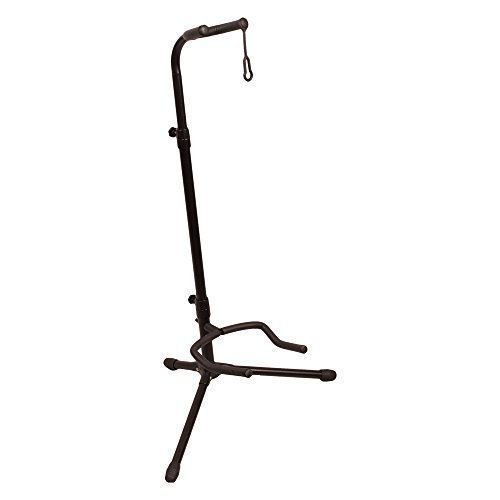 ChromaCast Upright Guitar Stand 2-Tier Adjustable, Extended Height-Fits Acoustic, Electric, Bass, and Extreme Body Shaped Guitars