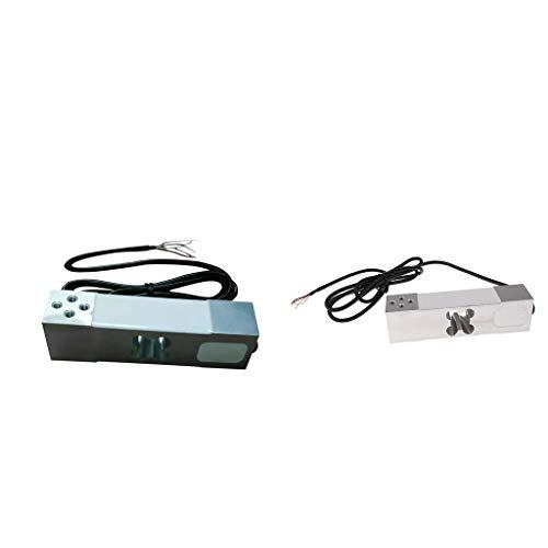B Blesiya 2Pcs Peso De La Célula De Carga De La Balanza Electrónica Del Sensor De Pesaje 200kg + 100kg