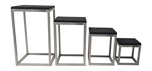 Uber Soccer Plyometric Tables - Set of 4 - 12'' (27.5 lbs) - 18'' (37.5 lbs) - 24'' (50lbs) - 30'' (60lbs) - Steel Contruction by Uber Soccer