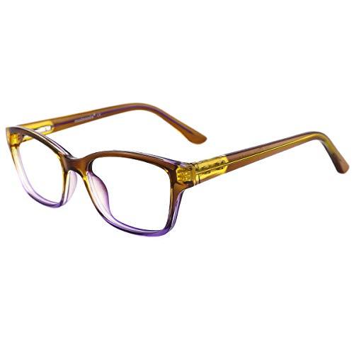 modesoda Kids Nerdy Rectangular Glasses Translucent Non-prescription Eyeglasses for Girls ()