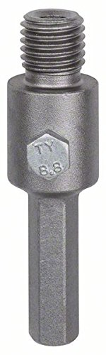 Silver 80 mm Bosch 2608550078 Hex Shank for core Cutters with M16 11 mm