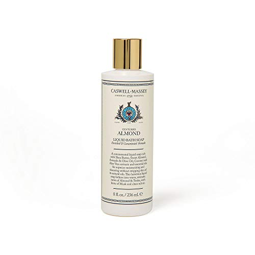 Caswell-Massey Centuries Almond Liquid Bath Soap - Plant-Based Body Wash With A Natural Almond Scent, 8 oz