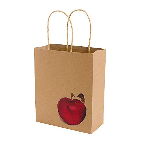 Fall Festival Apple Craft Bags for Fall - Party Supplies - Bags - Paper Gift W & Handles - Fall - 12 - Fall Gift Bag