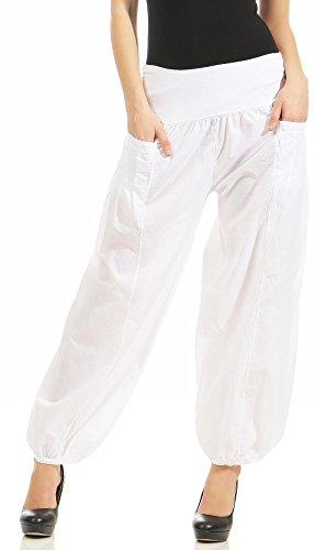 Taglia Pump Aladin Donna Malito Bianco 17633 Unica Tuta Libero Stoffa Pantaloni Di 1fqq6wtz
