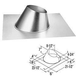 DuraVent 58DVA-F6 5 x 8 DirectVent Pro - Galvanizedl Adjustable Roof Flashing, Galvanized by DuraVent