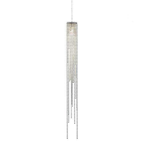Nova Brushed Nickel Beading 5-Inch-W Modern Pendant