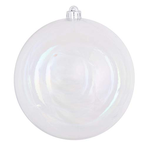 60ct Clear Transparent Shatterproof Christmas Ball Ornaments 2.5