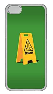 Creative Bananas Polycarbonate Hard Case Cover for iPhone 5C Transparent