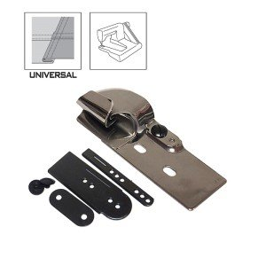 Sewing Machine Feed-off the Arm Folder (Lap Seam) Size 1/4H for 2 Needle Machines 2-NEEDLE JUKI BROTHER KL-3(A30) etc - Needle Feed Lockstitch Sewing Machine