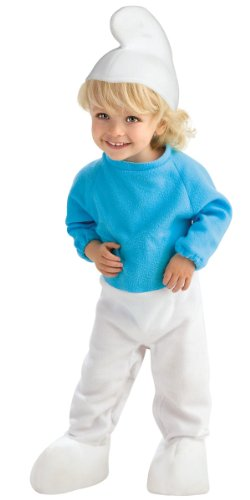 Rubie's Costume Co Unisex-Child The Smurfs Movie Romper Costume, Blue, 1-2