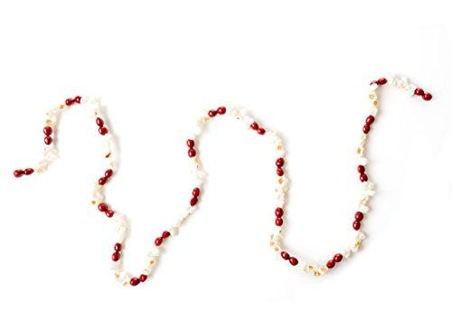 Popcorn & Cranberry Plastic Garland 6ft Fun Christmas Decorations (Large Image)