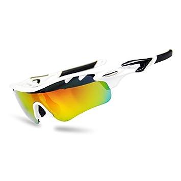 Brown Labrador Gafas Ciclismo polarizadas con 5 Lentes Intercambiables UV 400. Gafas Deportivas, Running