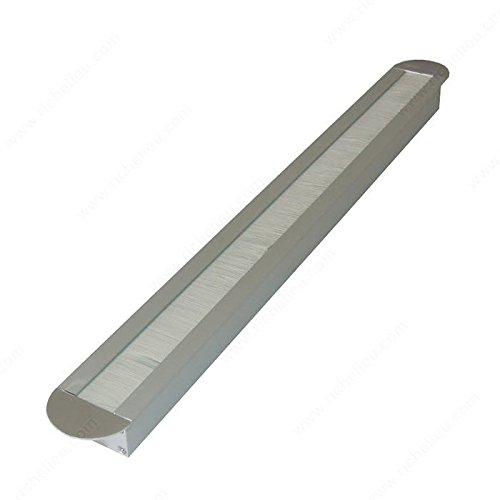 Rectangular Grommet - Rounded Ends - 2090108100 - Finish Silver, Drilling Measure: Width 16 1/8 in, Drilling Measure: Depth 1 17/32 in, Material Aluminum, Overall Length 17 3/4 in