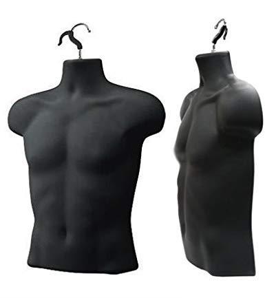 Upper Male Torso Form Pack of 3 Black