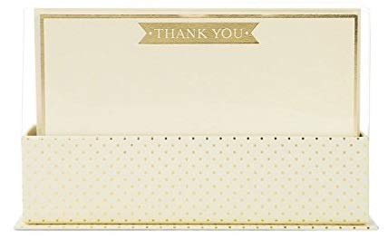 Graphique Cream and Gold Flat Notes - Set of 50 Cards with Matching Envelopes - Stationary Set - Bundle of 2
