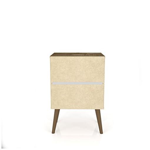Bedroom Manhattan Comfort Liberty Modern 1 Drawer Bedroom Nightstand/End Table, Rustic Brown/White modern bedroom furniture