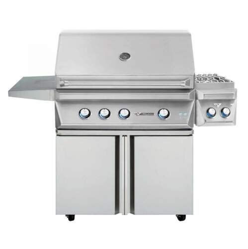 Twin Eagles TEBQ36R-CL 36-Inch Propane Gas Grill On Two Doors Cart With Infrared Rotisserie And 13-Inch Double Side Burners ()