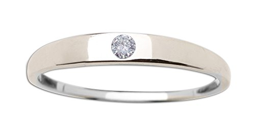 (Sterling Silver Dainty CZ Baby Ring or Girl's Ring)