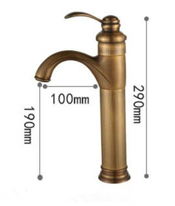 Lalaky Taps Faucet Kitchen Mixer Sink Waterfall Bathroom Mixer Basin Mixer Tap for Kitchen Bathroom and Washroom Copper Antique Ceramic