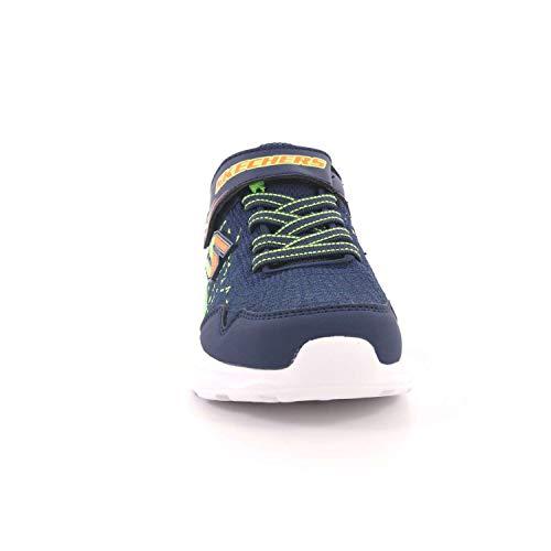 de Skechers élastiques Bleu déchire refroidi 97841 bébé de mémoire Bleu NVLM Blu la Marine Chaussures Lime l'air qz0qSxwr
