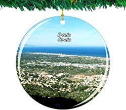 Kysd43Mill España Montgo Parque Natural £¬ Denia Adornos de cerámica árbol de Navidad Adornos de Recuerdo para Las Mujeres niñas Amigas