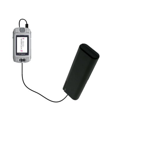 Portable Emergency AA Battery Charger Extender suitable for the T-Mobile Sidekick 3 - with Gomadic Brand TipExchange Technology