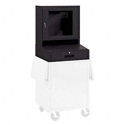 (Edsal - CSC6625ABLK - Mobile Computer Cabinet, LCD, Part A, Black)