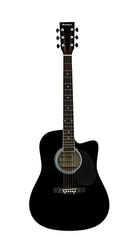 Huntington GA41C-BK Acoustic Cutaway Guitar 41-Inch, Black