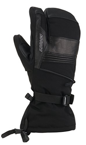 Gordini Men's Men's Gore-tex Storm Trooper Three Finger Waterproof Mittens, Black, Medium