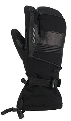 Gordini Men's Men's Gore-tex Storm Trooper Three Finger Waterproof Mittens, Black, Small