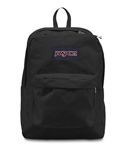 JanSport Superbreak Backpack - Lightweight School Pack, Black (Best Way To Get A Tan)