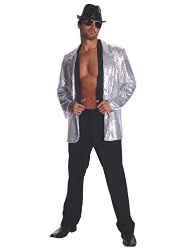 Rubie's Deluxe Men's Sequin Jacket, Silver, X-Large]()
