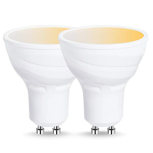 LOHAS Smart GU10 LED Bulb, 50W Halogen Bulb Equivalent, Wi-Fi Control Light, Warm Daylight Sport Light(Warm to Cool White), GU10 Base Track Lighting Compatible with Alexa and Google Assistant-2Pack