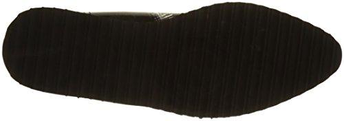 D'AZUR para Derby de Peluche Cordones Cote Noir Cassis Noir Zapatos Mujer B750Cq